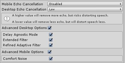 Acoustic Echo Cancellation - Dissonance: Unity Voice Chat