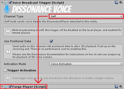 Transmit to Player - Dissonance: Unity Voice Chat