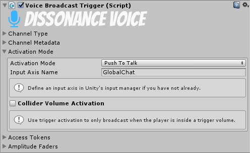 Voice Broadcast Trigger - Dissonance: Unity Voice Chat